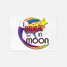 I Believe In The Moon Cute Believer Design 5'x7'Ar