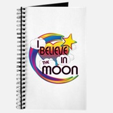 I Believe In The Moon Cute Believer Design Journal
