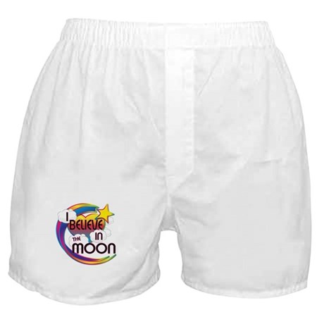 I Believe In The Moon Cute Believer Design Boxer S