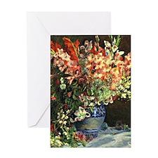 Renoir: Gladiolas in a Vase Greeting Card
