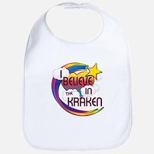 I Believe In The Kraken Cute Believer Design Bib