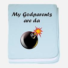 My Godparents Are Da Bomb baby blanket