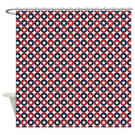 Red White And Blue Stars Shower Curtain By ColorfulPatterns