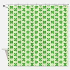Green Shamrocks Shower Curtain