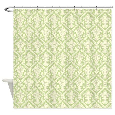 Fancy Green Pattern Shower Curtain by ColorfulPatterns