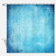 Blue Watercolor Shower Curtain