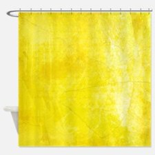 Yellow Watercolor Shower Curtain