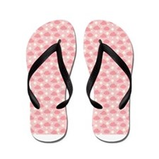 Pink Clouds And Stars Flip Flops