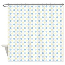 Blue Polka Dots Shower Curtain