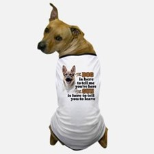 Beware of Dog/Gun (German Shepherd) Dog T-Shirt