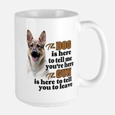 Beware of Dog/Gun (German Shepherd) Large Mug