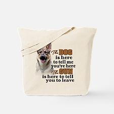 Beware of Dog/Gun (German Shepherd) Tote Bag