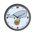 Whale doggies Wall Clock