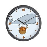 Whale kitties Wall Clock