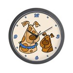 Doggy Duo Wall Clock