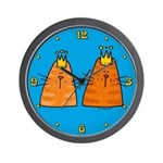 Orange Kitties Wall Clock