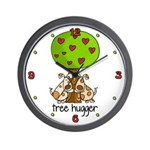 Tree Hugger Wall Clock
