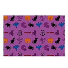 Halloween mixed pattern Postcards (Package of 8)