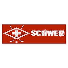 Schweiz Eishockey Logo Bumper Bumper Sticker