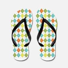 Colorful Diamonds Flip Flops