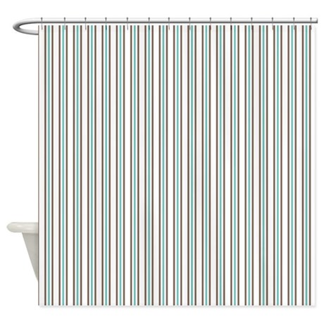 vertical stripes shower curtain