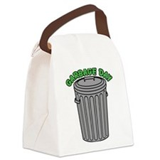 Garbage Day Trash Can Canvas Lunch Bag