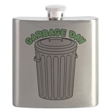 Garbage Day Trash Can Flask