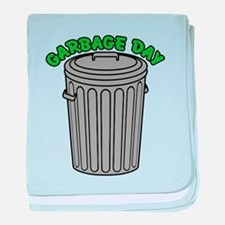 Garbage Day Trash Can baby blanket