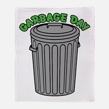 Garbage Day Trash Can Throw Blanket