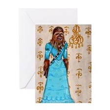 Chewbacca elegance Greeting Card