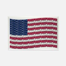 PEACE FLAG Rectangle Magnet