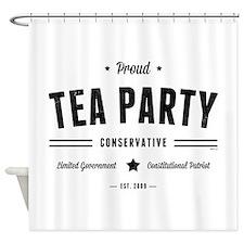 Tea Party Conservative Shower Curtain