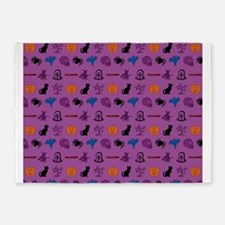 Halloween mixed pattern 5'x7'Area Rug