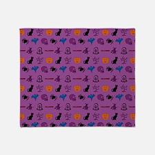 Halloween mixed pattern Throw Blanket