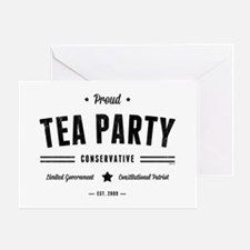 Tea Party Conservative Greeting Cards