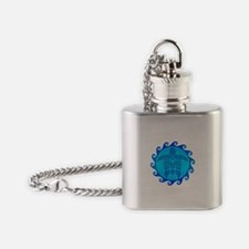 Blue Maori Turtle Flask Necklace