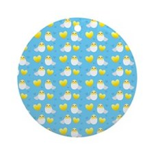Cute EASTER chicks in cracked eggs egg pattern Orn