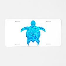 Tribal Honu Hibiscus Aluminum License Plate