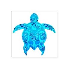 Tribal Honu Hibiscus Sticker