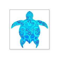 Tribal Honu Hibiscus Sticker