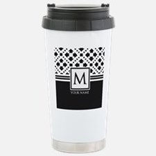 Simple Pattern Black Monogram Travel Mug