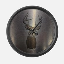 stainless deer  Large Wall Clock
