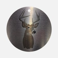 stainless deer  Round Ornament