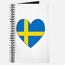 Swedish Flag Heart Journal