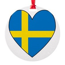 Swedish Flag Heart Ornament