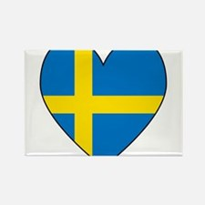 Swedish Flag Heart Rectangle Magnet