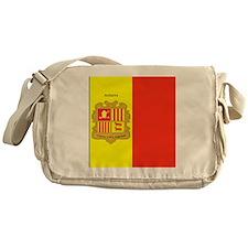 Flag of Andorra (labeled) Messenger Bag