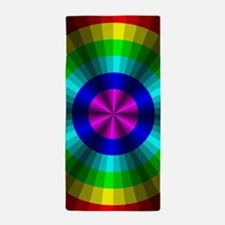 Rainbow Illusion Beach Towel