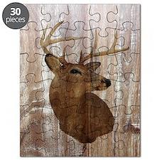woodgrain deer Puzzle