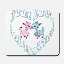 Goat Love Heart Mousepad